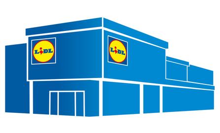 Liiketila Lidl-myymälän yhteydessä Nöykkiössä